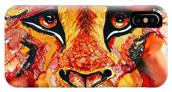Lion's Head  Red IPhone Case