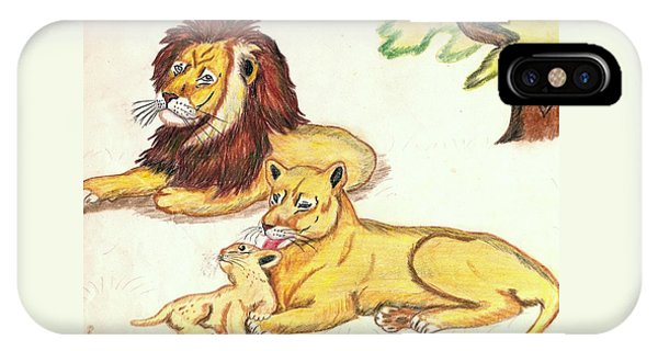 Lions Of The Tree IPhone Case