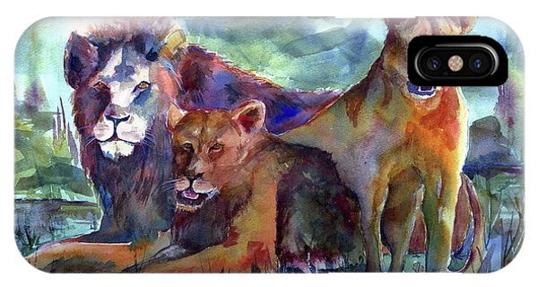 Lion's Play IPhone Case