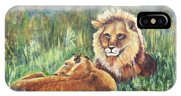 Lions Resting IPhone Case