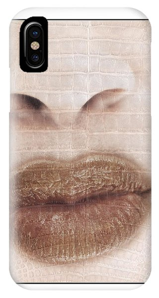 Lips And Nose. Female IPhone Case