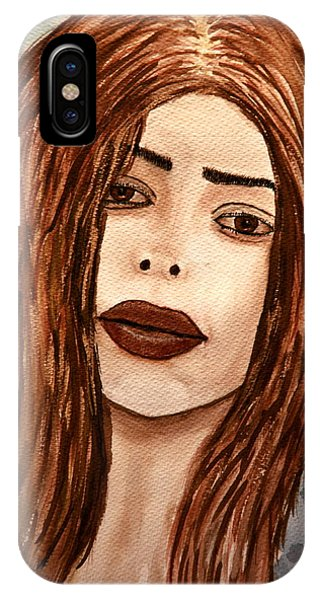 Lips's Lady. IPhone Case