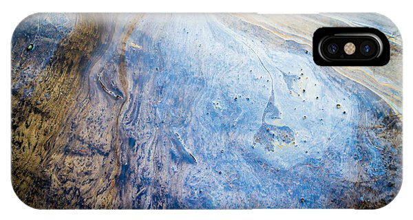 Liquid Oil On Water With Marble Wash Effects IPhone Case