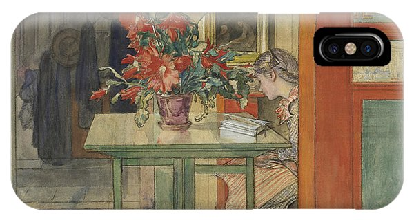 Art And Craft iPhone Case - Lisbeth Reading by Carl Larsson