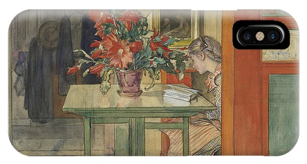 Swedish Painters iPhone Case - Lisbeth Reading by Carl Larsson