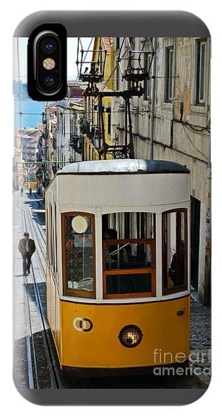 Lisbon - Portugal - Elevador Da Bica IPhone Case