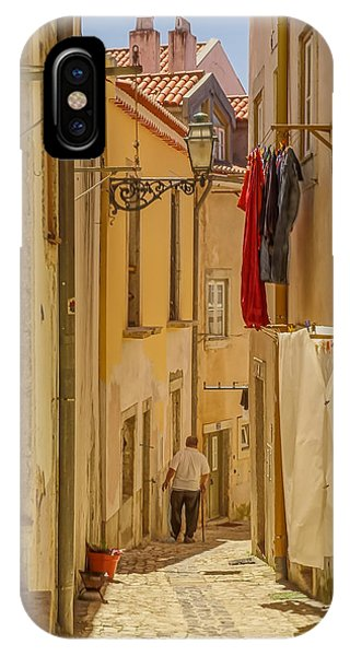 Lisbon Street # 1 IPhone Case