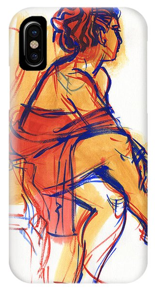 IPhone Case featuring the painting Listening by Judith Kunzle