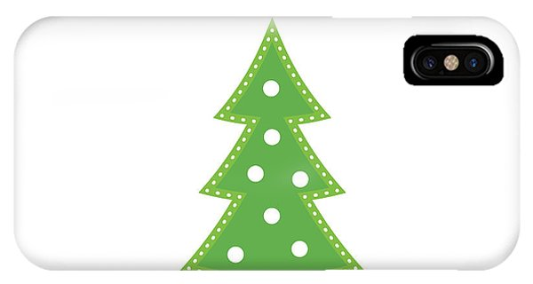 Christmas Tree iPhone Case - Lit Christmas Tree- Art By Linda Woods by Linda Woods