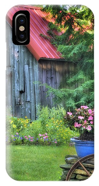 Old Barns iPhone Case - Litchfield Hills Summer Scene by Expressive Landscapes Fine Art Photography by Thom