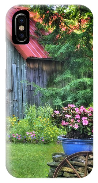 The Country Cottage Garden  IPhone Case