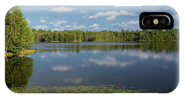 Northwoods Lake Reflections IPhone Case