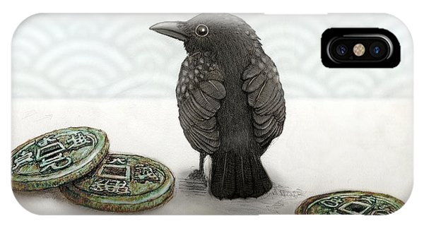 iPhone Case - Little Bird And Coins by Kato D