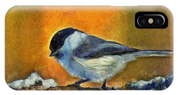 Titmouse iPhone Case - Little Bird - Pa by Leonardo Digenio