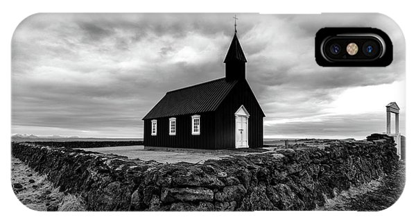 Church iPhone Case - Little Black Church 2 by Larry Marshall
