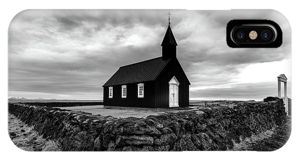 Reindeer iPhone Case - Little Black Church 2 by Larry Marshall