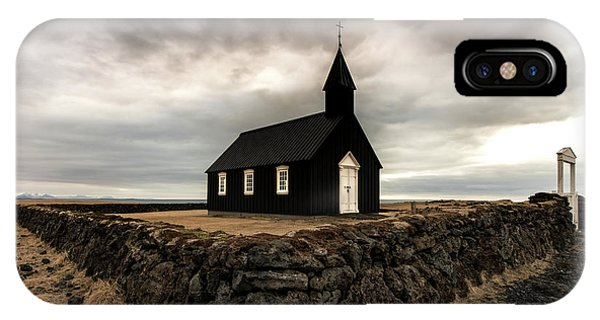 Church iPhone Case - Little Black Church by Larry Marshall