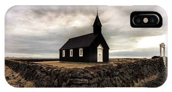 Reindeer iPhone Case - Little Black Church by Larry Marshall