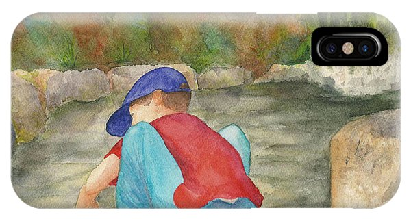 Little Boy At Japanese Garden IPhone Case