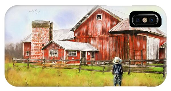 Little Boy On The Farm IPhone Case