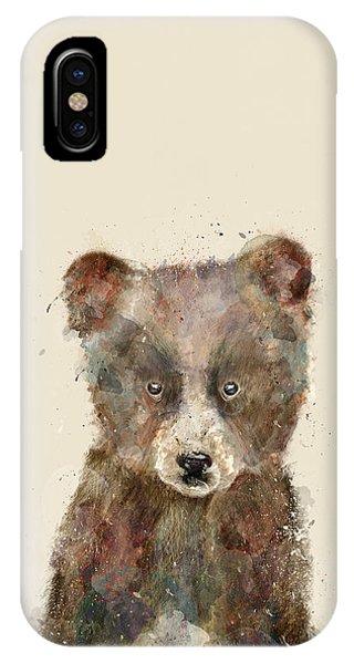 Brown Bear iPhone Case - Little Brown Bear by Bleu Bri