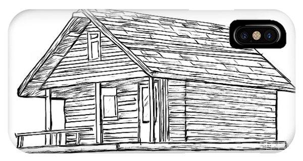 Cabin iPhone Case - Little Cabin In The Woods by Edward Fielding