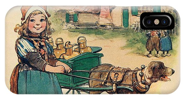 Little Dutch Girl With Milk Wagon IPhone Case