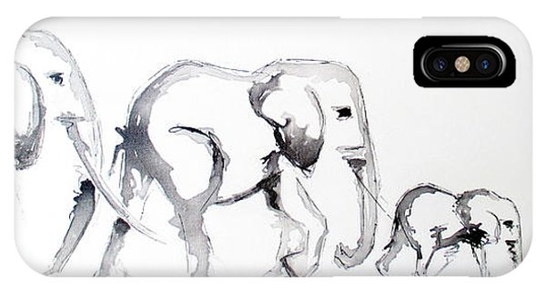 Little Elephant Family IPhone Case