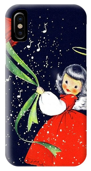 Fairy iPhone Case - Little Fairy Announce Happy Holidays by Long Shot