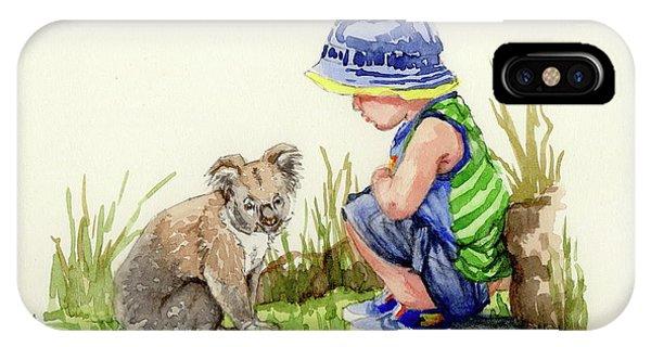 Little Friends Watercolor IPhone Case