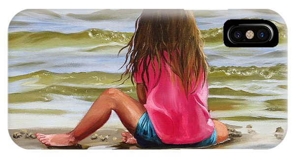 Little Girl In The Sand IPhone Case