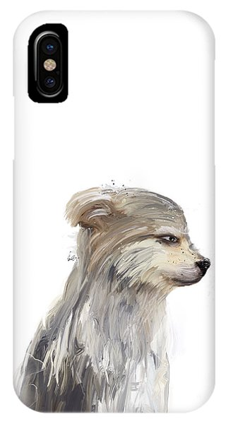 Pup iPhone Case - Little Grey Wolf by Bri Buckley