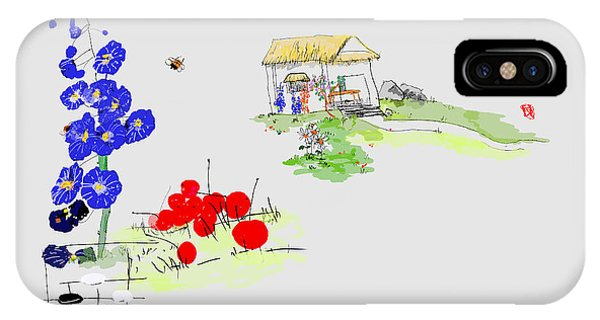 Little House And Garden IPhone Case