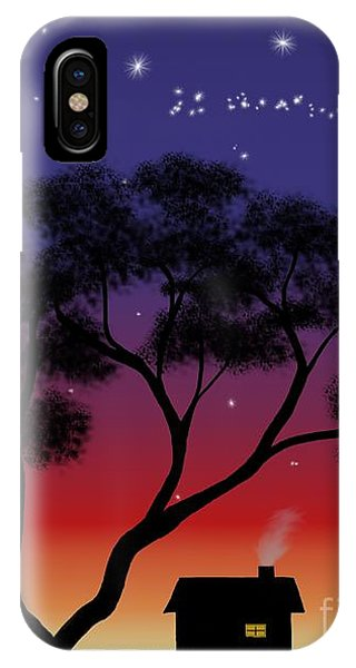 Little House At Sunset IPhone Case