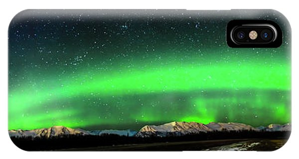 Little House Under The Aurora IPhone Case