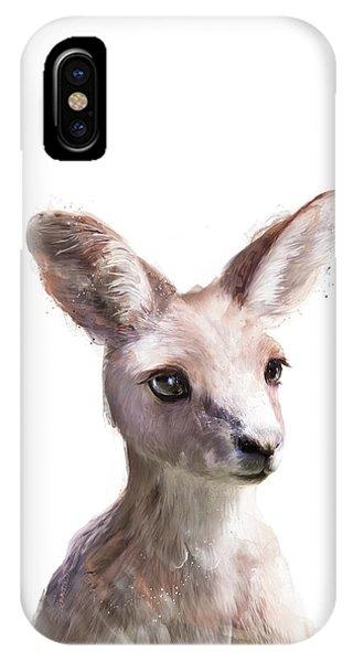 Flag iPhone Case - Little Kangaroo by Amy Hamilton