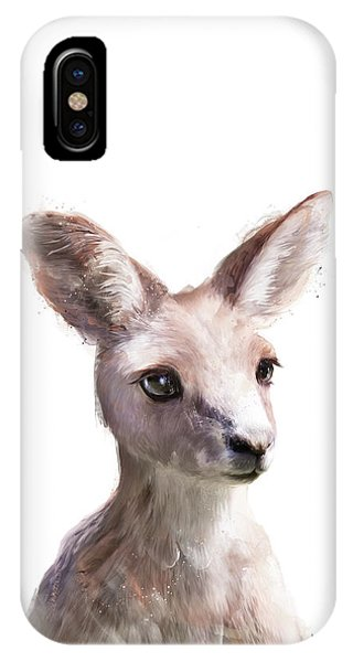 Portraits iPhone X Case - Little Kangaroo by Amy Hamilton
