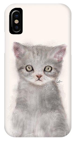 Cute Kitten iPhone Case - Little Kitten by Bri Buckley