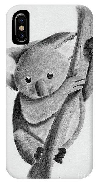 Little Koala On A Tree IPhone Case