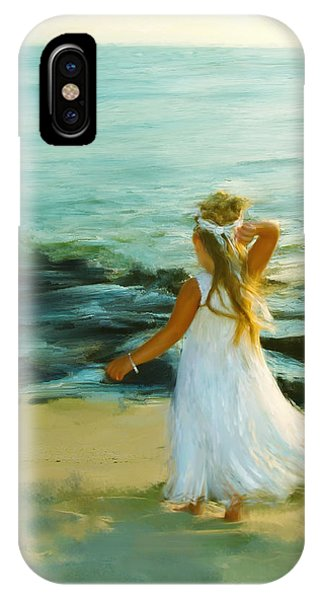 Little Lady At The Beach IPhone Case
