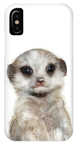 Meerkat iPhone Case - Little Meerkat by Amy Hamilton