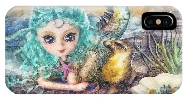 Mo iPhone Case - Little Mermaid by Mo T