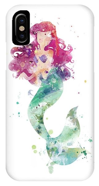 Mermaid iPhone Case - Little Mermaid by Monn Print