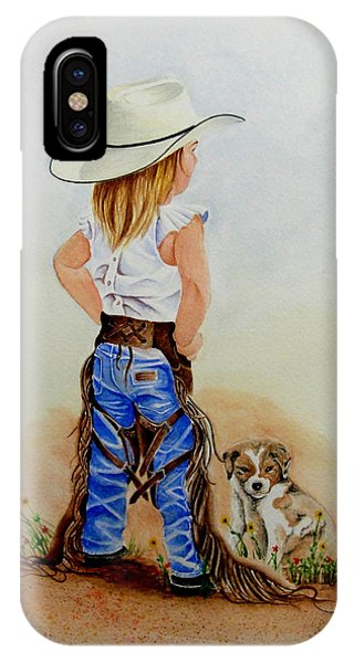 Little Miss Big Britches IPhone Case