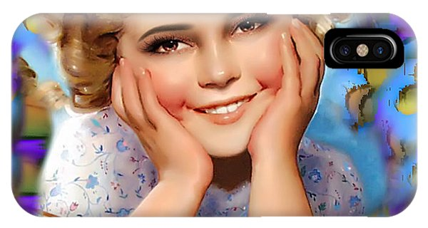 Child Actress iPhone Case - Little Miss Shirley by Karen Showell