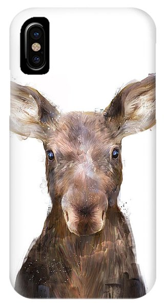 Drawing iPhone Case - Little Moose by Amy Hamilton