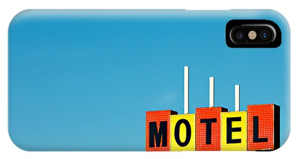 Road Signs iPhone Case - Little Motel Sign by Todd Klassy