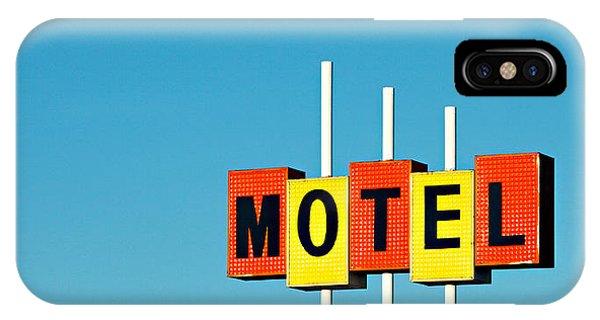 Vintage iPhone Case - Little Motel Sign by Todd Klassy