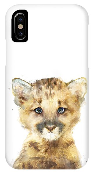 Drawing iPhone Case - Little Mountain Lion by Amy Hamilton