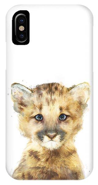 Lion iPhone Case - Little Mountain Lion by Amy Hamilton